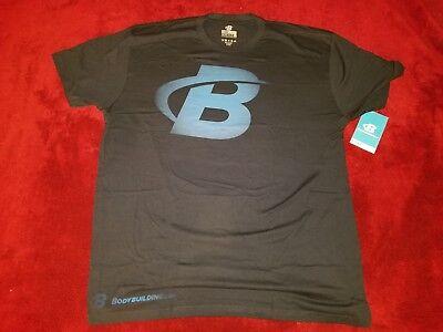 Bodybuilding Com Shirt B Faded Navy Blue Size Xxl 2Xl