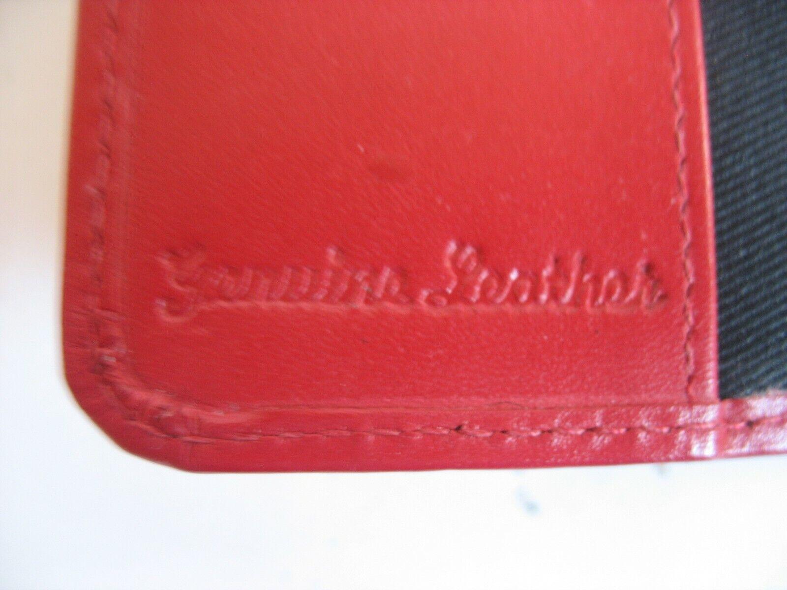 Vtg NOS Genuine Red Leather Passport Case With Back Pocket - $38.00