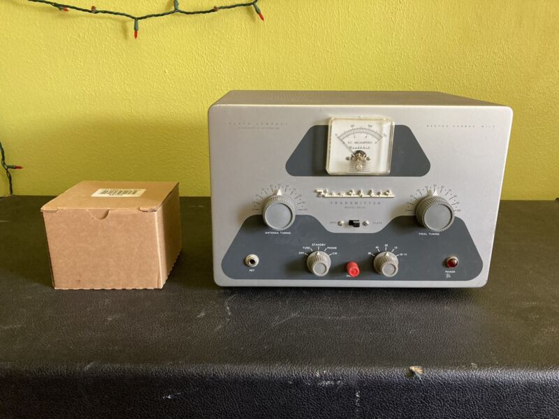 HeathKit DX-40 Transmitter (untested) With Box Of Tubes.