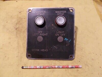 Control Panel With Start Stop Switches For Cincinnati N0 2 Tool Cutter Grinder