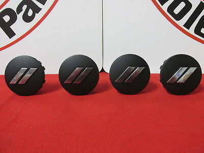 DODGE CHALLENGER CHARGER Matte Black Chrome Stripe Wheel Center Cap Set Of 4 OEM