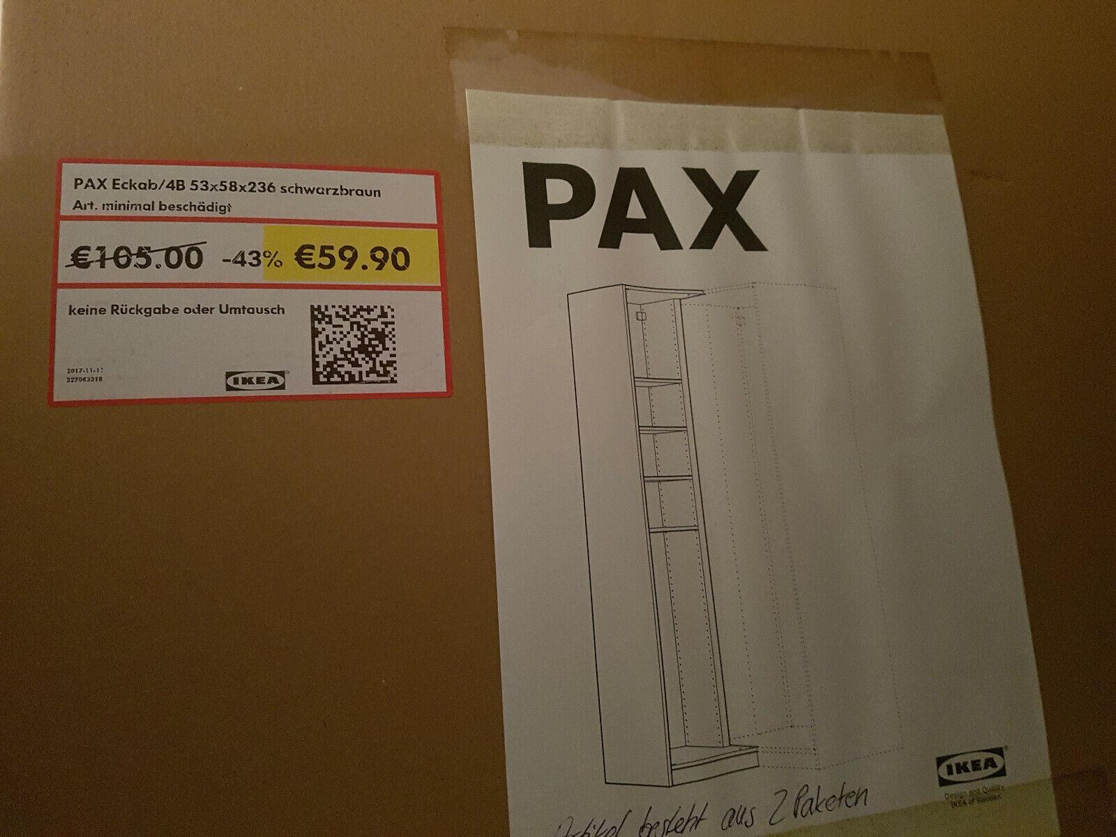 Pax Ikea Eckab Schwarzbraun Mobel