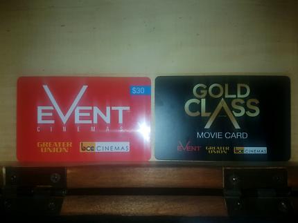 $100 Gold Class Voucher & $30 Event Cinemas Voucher