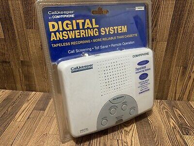 Conairphone Digital Answering System Machine TAD1212WCSD 2003 New White