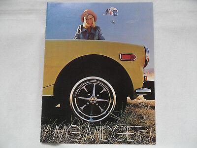 Prospekt brochure MG Midget Nr. 2 SR918
