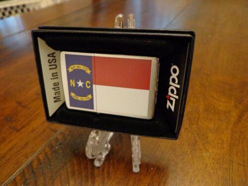 NORTH CAROLINA STATE FLAG SERIES ZIPPO LIGHTER MINT IN BOX
