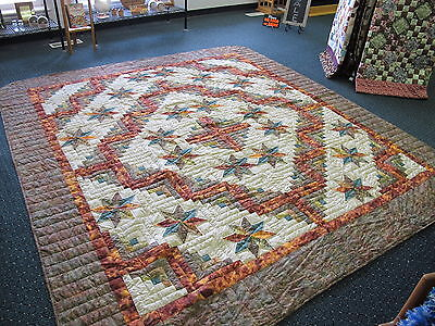 Authentic Amish Handmade Queen/King Quilt 101 x 113 Signed/Dated  Pennsylvania