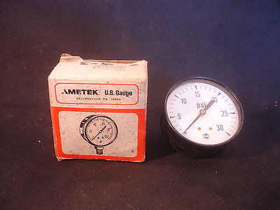 Old Vtg Usg U.s. Gauge Pressure Bu 2457 Fm With Original Box Made In Usa