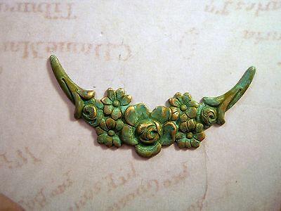 Verdigris Patina Floral Vine Stampings (1) - VPGB9088