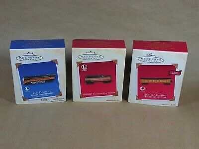 Hallmark 2003 Lionel Daylight Train Set Locomotive Tender & Observation Car L00K