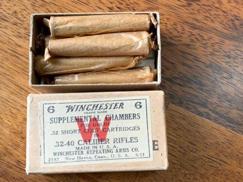 .32-40 FULL box of 6 Winchester supplemental chambers cartridge chamber adapter