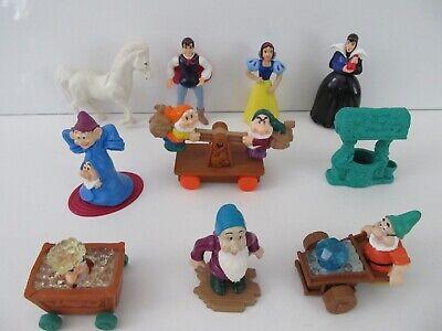 McDonalds Disney Snow White & 7 Dwarfs Figure Lot w Witch Prince Horse Well 1992 - Snow White Witch Name
