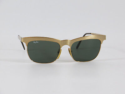 Ray Ban Vintage Sonnenbrille Wayfarer Style W0755 Gold Bausch & Lomb Vintage
