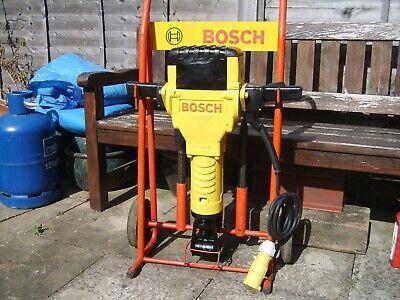 Bosch Gsh 27 Refurbished Heavy duty 110v Electric breaker trolly and 3 steels
