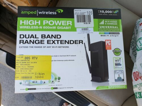 Amped Wireless Wireless-N Repeater and Range Extender Black SR20000G