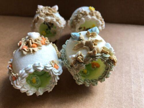 Vintage Easter Diorama Sugar Eggs Die Cut Figures Cartoon Buggs Bunny Sylvester