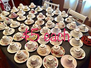 59 tea cups and saucers