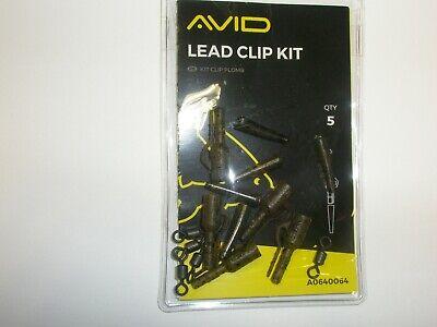 Avid Outline Kabel Clip Set 5pk Karpfen Angelzubehör