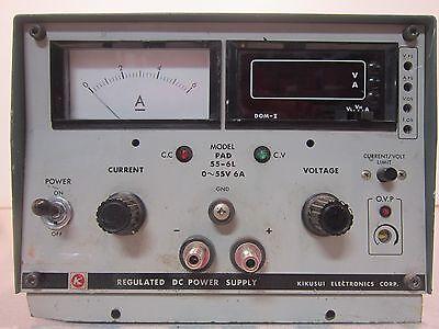 Kikusui Pad 55-6l Regulated Dc Power Supply Output 055v 6a Bargain