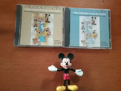 Disney Music Songs Collection C.Ds, + Mickey Figure, LOT