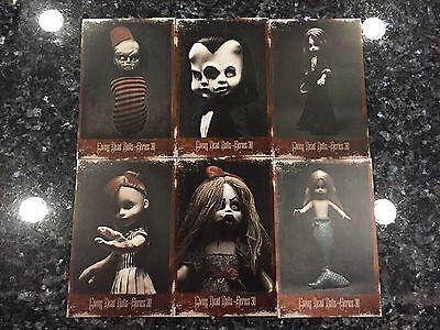 MEZCO TOYZ LIVING DEAD DOLLS SERIES 30 FREAKSHOW CABINET CARDS 6 PIECE SET