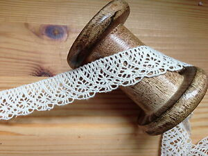 Vintage-style-100-Cotton-Ribbon-Ivory-Crochet-Trim-Lace-Wedding-Sewing-Decor
