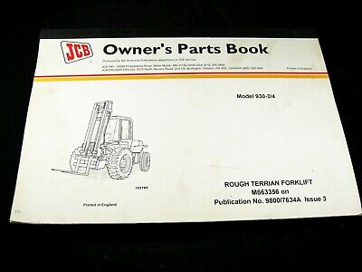 Jcb 930-2 930-4 Rough Terrain Forklift Lift Truck Owner Parts Manual Book Oem