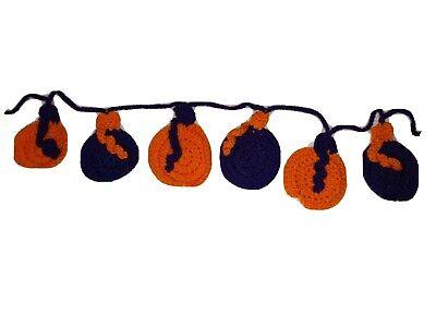 Hand Made Crochet Halloween Garland