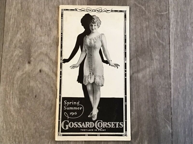 1916 Spring Summer Gossard Corsets Catalog Book Madison SD