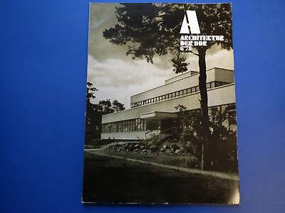 DDR Zeitschrift-Architektur der DDR Heft 6/78-Oberhof-Burg-Zinnowitz-Wolfen Nord