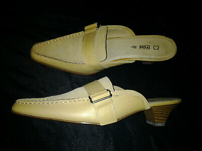 Tan Leather Mule Loafer Shoes, used for sale  Shipping to South Africa