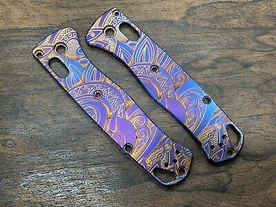 SUNRISE heat anodized Titanium Scales for Benchmade Bugout 535 Folding Knife