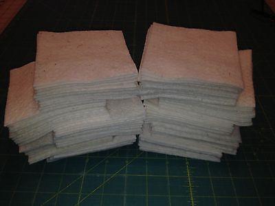 "100~4"" Rag Quilt Warm & Natural Batting Squares"