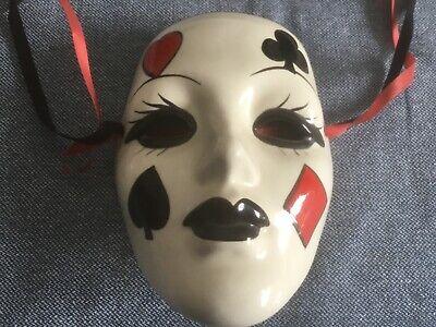 Maske,aus New Orleans,17cm lang,ca 40 Jahre alt,Mardi Gras,Wandschmuck,