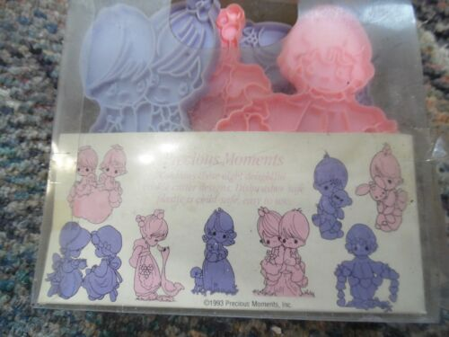 Vintage Wilton  Precious moments set of 8  plastic cookie cutters IOB
