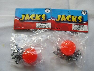 2 Packs Metal Jacks with Super Ball Classic Kids Game Toys for sale  Shipping to Canada