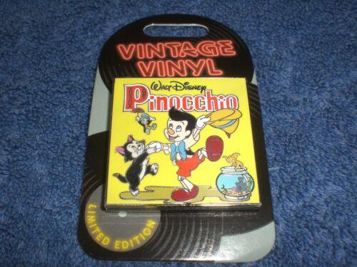 Disney 2019 POM Vintage Vinyl PINOCCHIO FIGARO JIMINY CLEO LE Slider Pin