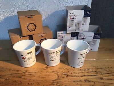 3 x Kahla Notes Eco Kids Mug Writable Porcelain 300ml Designer Made in Germany
