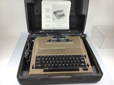 Sears Electric Portable Typewriter 161.53620 With Good Case 358 Tested