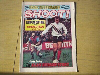 June 28th 1975, SHOOT, Alan Hudson, John Hickton, Stewart Houston, Arsenal.