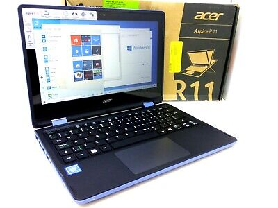 "Acer Spin R11 R3 Blue Touch 11.6"" 2in1 intel N3160 4GB 64GB SSD FHD 1080P Laptop"