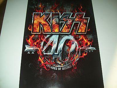 KISS 2015 Decades of Decibels,CONCERT TOUR BOOK, PROGRAM,PROGRAMME,TOURBOOK