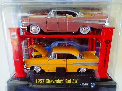 1957 Chevrolet Bel Air Flames-Moon Eyes *** m2 machines 1:64 OVP