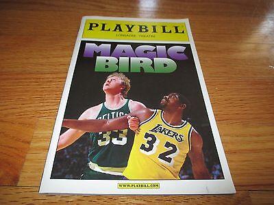 2012 MAGIC BIRD Playbill at Longacre Theatre LARRY BIRD vs MAGIC JOHNSON Program
