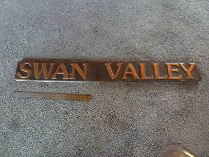 Swan Valley beaten copper name plaque