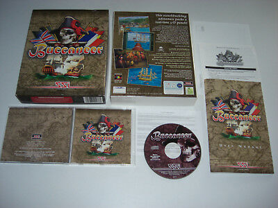 BUCCANEER Pc Cd Rom Pirates Fast Post  ORIGINAL BIG BOX