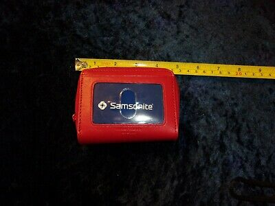 Samsonite Red Leather Credit Card Wallet/Holder