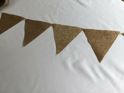 Gold Bunting flags
