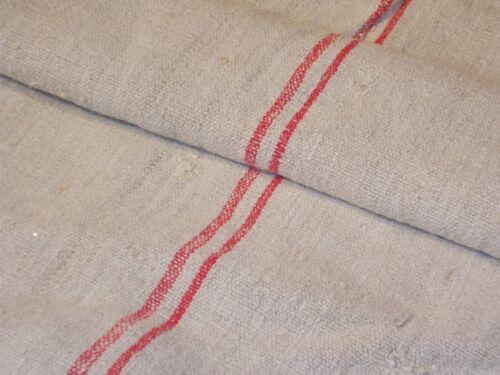 Antique European Feed Sack GRAIN SACK Red Stripe # 7977
