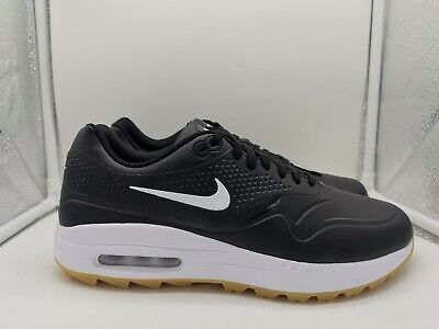 Nike Air Max 1 G Golf Shoes UK 7 Black White Gum Light Brown AQ0863-001